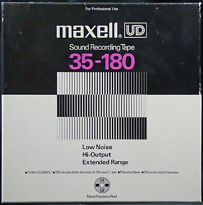 "Maxell UD 35-180 10.5""  Metal Reel to Reel Tape [Reference 06]"