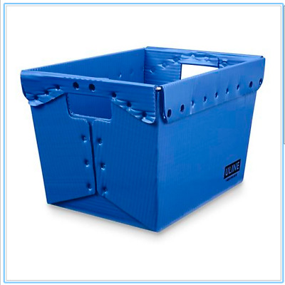 Postal Mail Tote Without Lid, Blue, 18x13x12