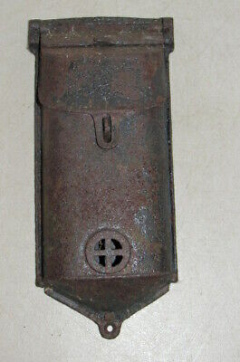 Cast Iron Griswold Locking Wall Mount Mailbox Mail Box Double Door Stamped 199