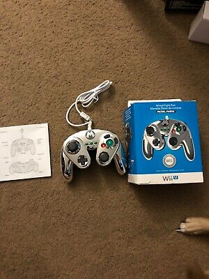 Metal Mario Official Nintendo Wii U Wired Fight Pad Classic Controller PDP New