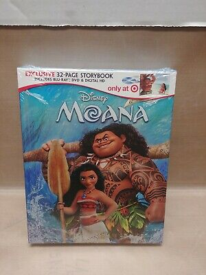 Moana Digibook (Blu Ray / DVD, 2-Disc, 2017) Target Exclusive Storybook