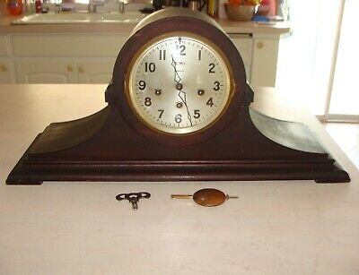 Antique Ansonia Tambour Mantle Clock Westminster Chimes Sonia No. 1 Working