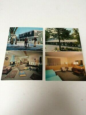 Lot of 2 Vintage Chrome Postcards, Rutledge's Lodge and Motel Stowe Vermont