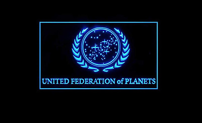 Star Trek United Federation of Planets LED Display Memorabilia Sign Hanging SG-1