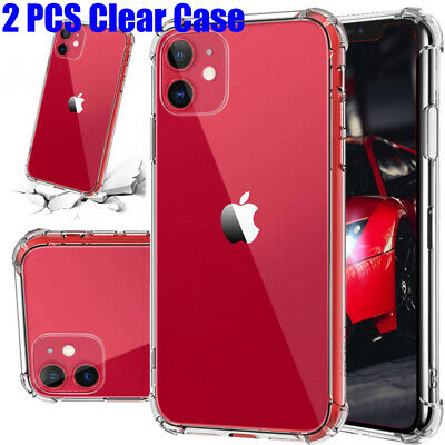 2 PCS ultra-thin iPhone 11, 11 Pro, 11 Pro Max Case | [Ultra Hybrid] Clear Cover