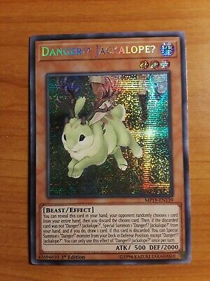 "Yu-Gi-Oh! Yugioh ""Danger!? Jackalope?"" MP19-EN139 Prismatic Secret Rare"