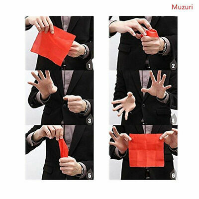 2pcs Novel Magic Finger Thumb Tip Scarf Disapper Magic Performence Tricks Props