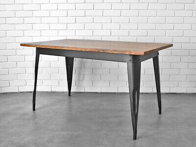 Industrial Dining Kitchen Table 1.4m Office Study Desk Furniture Retro Vintage