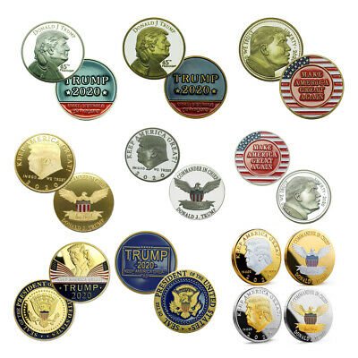 10x US President Donald Trump 2020 Commemorative challenge Coin Collection Set
