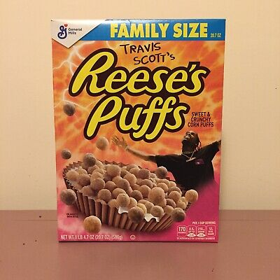 Travis Scott X Reeses Puffs Cereal Limited Edition Family Size Cactus Jack
