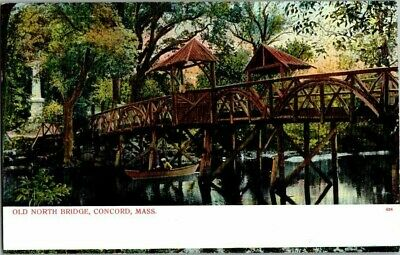 1907. Old North Bridge, Concord, Mass. Postcard Zt15
