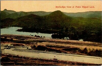 1908. Birds Eye View Of Pedro Miguel Locks.  Postcard Zt13