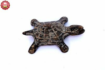 Vintage Old Decor Useful Feng-Shui-Brass-Tortoise Chinese mythology. G7-849 AU