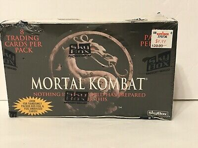 1995 Skybox Mortal Kombat Box 36 Packs of Cards Unopened Factory Sealed