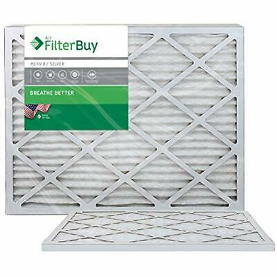 20x23x1 MERV 8 Pleated AC Furnace Air Filter, (Pack Filters), - Silver