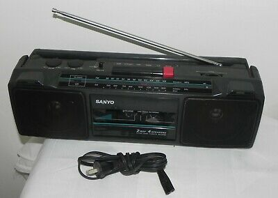 VINTAGE SANYO M7024F FM/AM Radio BOOMBOX Stereo Cassette Player