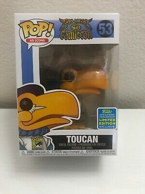 Funko Pop! Toucan #53 SDCC Convention Exclusive 2019 Ad Icons Brand New!