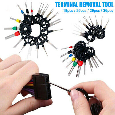 18-36pcs Car Wire Terminal Removal Tool Plug Connector Extractor Puller Pin Kit
