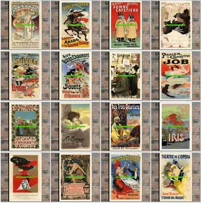 231 Various Vintage Advertising Art Deco Poster Canvas Photo Coffee Cup : Set 2