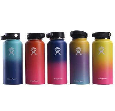 32/40oz Hydro Flask Insulated SS Water Bottle Wide Mouth W/Flex Cap