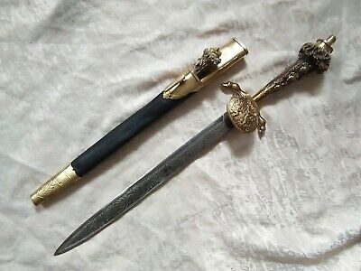 German hunting horn dagger + small knife in set WWII 50cm