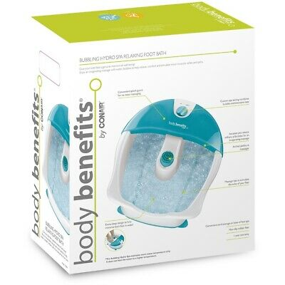 Bubbling Hydro Teal Foot Spa Body Benefits invigorating massage with bubbles
