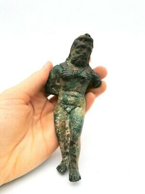 Ancient Roman Ca.100 Ad Bronze Statue Of Hercules  R850