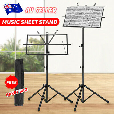 Adjustable Conductor Music Sheet Stand Metal Tripod Holder Mount Folding Stage