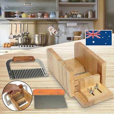 Soap Mold Loaf Cutter Adjustable Wood Box Straight/ Wavy Cutter Cutting Tool Set