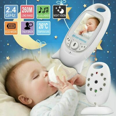 """2"""" Baby Monitor 2.4GHz Color LCD Wireless Audio Talk Night Vision Digital Video"""