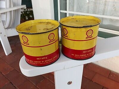 Two Shell Grease Tins, Still Full