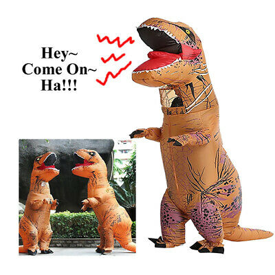 Inflatable Dinosaur Costume Halloween Outfit Dress up For Adult Kids Giant Toy
