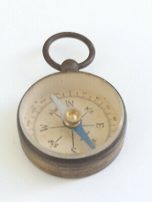 Small Antique Pocket Compass possibly Brass