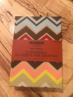 NWT Missoni For Target Collection 3 Mini Journals Zigzag