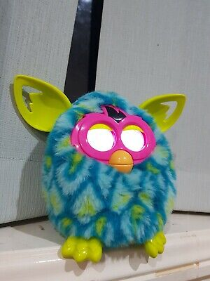Peacock Furby Toy Blue Green pink.