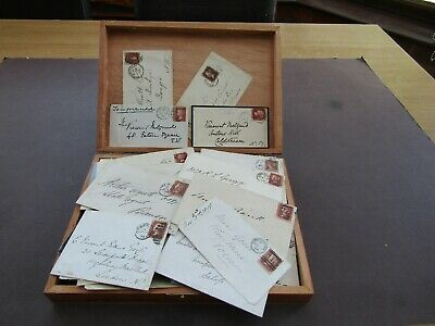 GREAT BRITAIN - COLLECTION OF 125 x QVIC PENNY RED COVERS - ALL DIFF PLATES