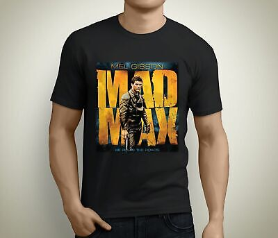 New Mad Max Mel Gibson Movie Art Short Sleeve Men's Black T-Shirt Size S To 3Xl