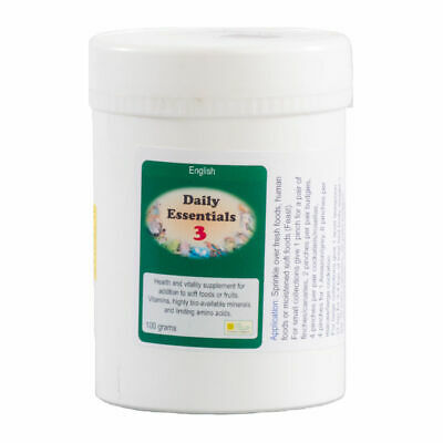50g Daily Essentials 3 Bird On Food Vitamin Supplement The BirdCare Company