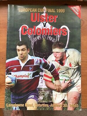 Ulster Rugby 1989 Heineken Cup Final Official Programne And Ticket