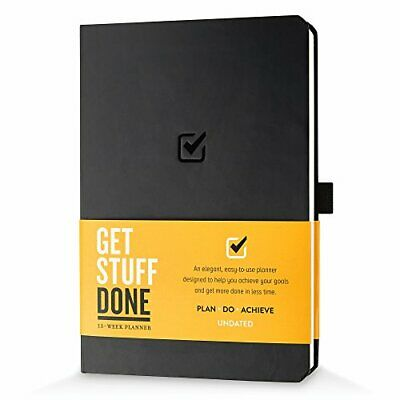 Undated Productivity Journal, 13 Week Planner for Goal Setting Plus 31 Daily