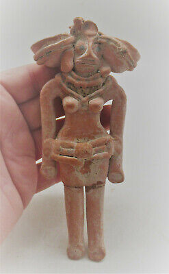 Circa 2000Bce Ancient Near Eastern Terracotta Idol Needs Further Research