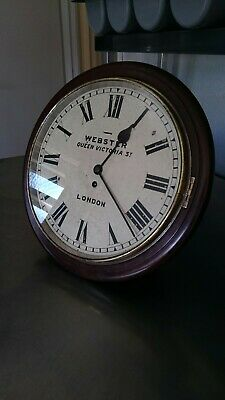 Antique Wall Clock Webster Queen Victoria Street London With Swiss Escapement