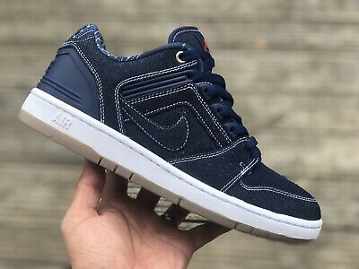 NIKE SB AIR Force Ii Low Premium Denim Uk 6.5 Eur 40.5 Us