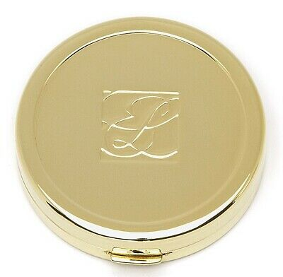"1 Estee Lauder Solid Perfume Powder Compact ""Golden Jewel"" MIBB"