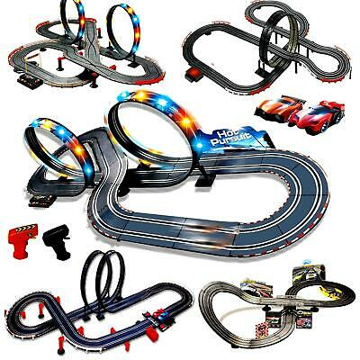 Electronic Slot Car Race Track Set Kids Remote Control Racing Toy Game Xmas Gift