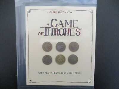 A Game of Thrones Six Houses Six Half Penny Coin Set