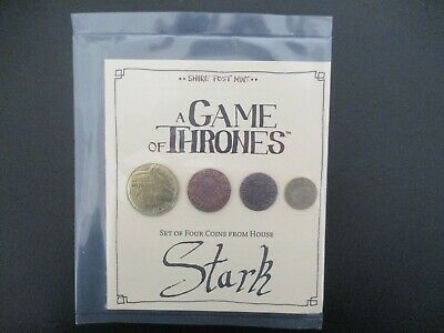 A Game of Thrones. Set of four coins from house Stark