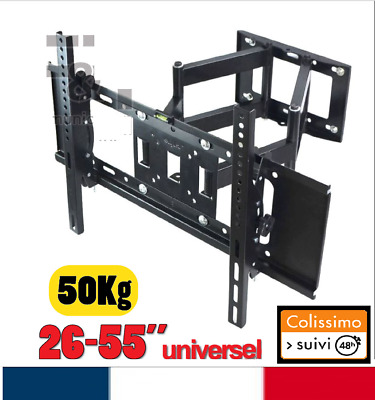 "Support TV mural orientable inclinable 26"" à  55"" POUCES 26 32 46 50 52 55 140cm"