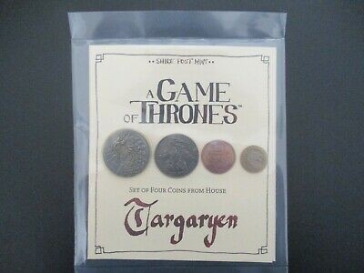 A Game of Thrones Set of four coins from House Targaryen