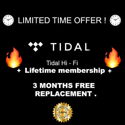Tidal Hi - Fi Lifetime membership ! - 3 months free replacement